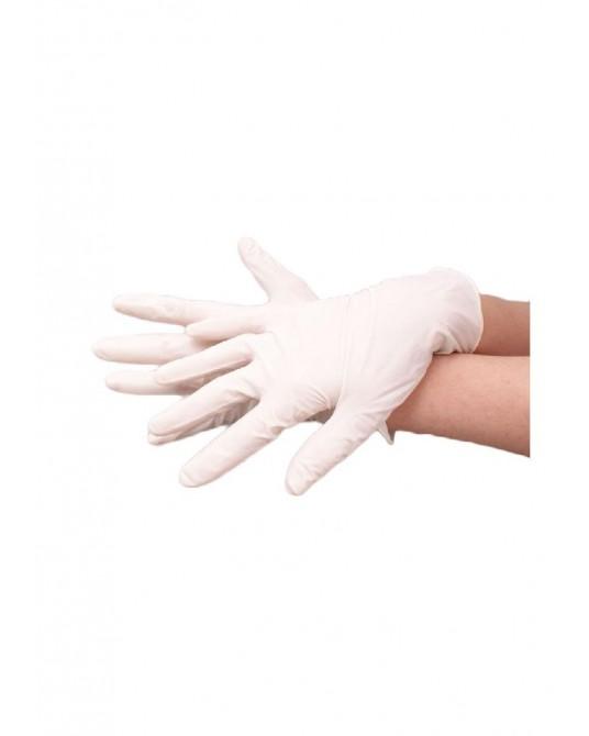 Rękawice lateksowe, pudrowane małe S, M, L, XL 100szt - Sklep medyczny / weterynaryjny - Sigmed