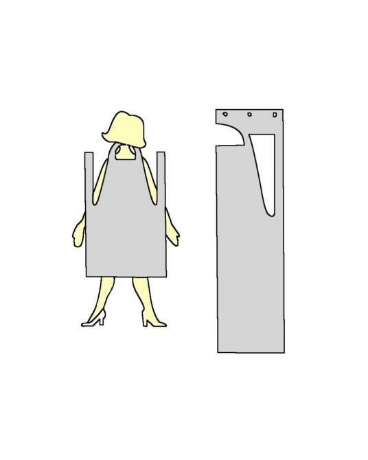 Fartuch ochronny, biały, 140 x 75 cm - Sklep weterynaryjny - Sigmed