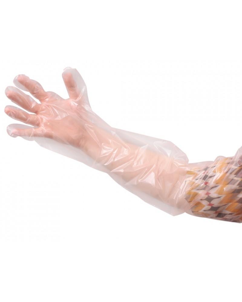 Rękawice rektalne pomarańczowe, 90 cm