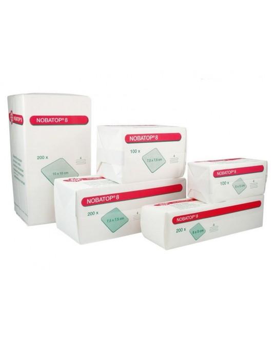 Kompresy Nobatop 8, niesterylne, włókninowe, 10 x 10 cm, 200 szt - Sklep medyczny / weterynaryjny - Sigmed