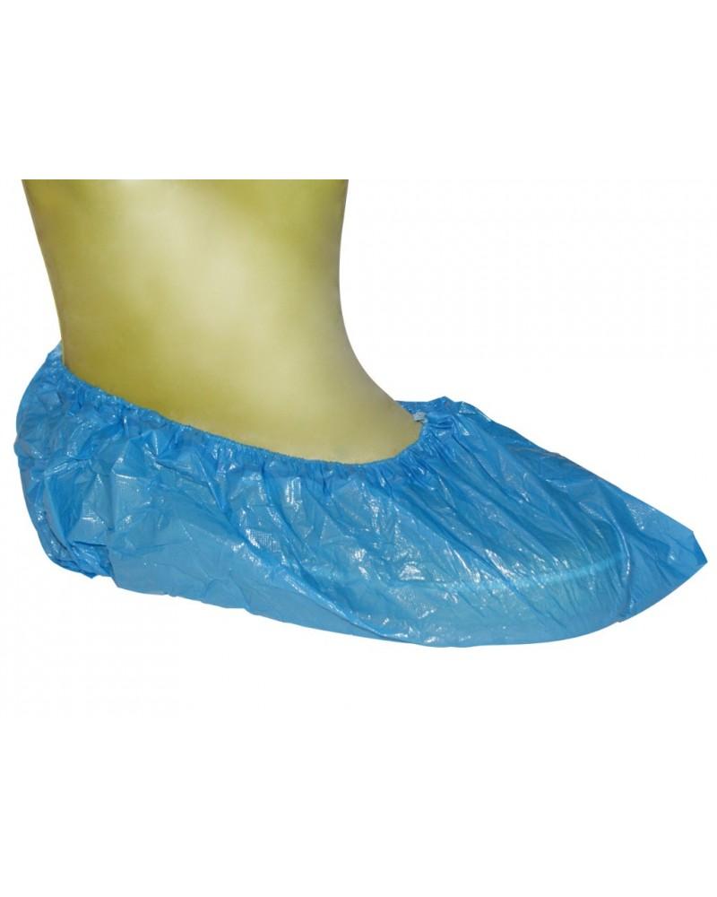 Buty (ochraniacze) niebieskie z gumką 15 x 40 cm, 100 sztuk