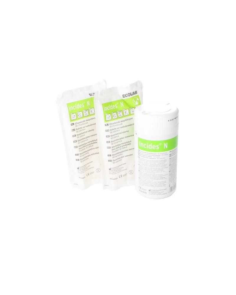 Incides N - chusteczki dezynfekujące ECOLAB + 2x dodatkowy wkład