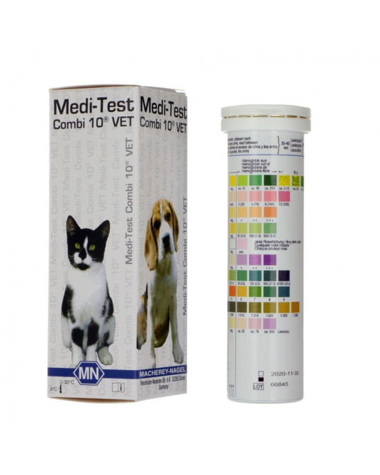 Paski do badania moczu Medi-Test Combi 10® VET