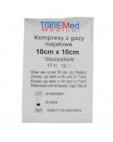 Kompresy gazowe, gaziki, niewyjałowione 12 warstw, 17 nitek, 10 x 10 cm - Sklep medyczny / weterynaryjny - Sigmed