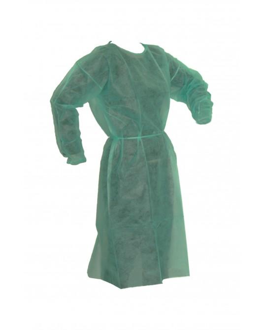 Fartuch flizelinowy, zielony - Sklep medyczny / weterynaryjny Sigmed