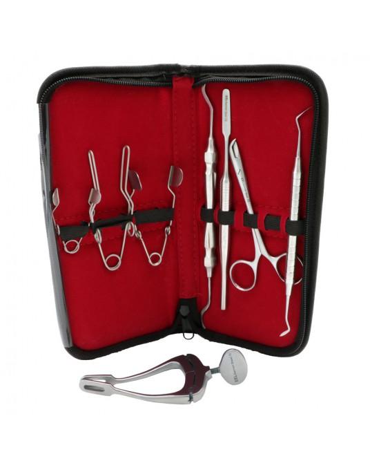 Zestaw narzędzi stomatologicznych 8-częściowy w etui