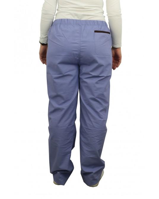 Spodnie lekarskie niebieskie rozmiar L (obszycie czarne)