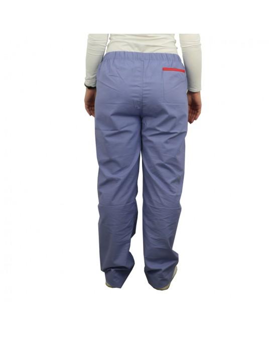 Spodnie lekarskie niebieskie rozmiar XL (obszycie czerwone)