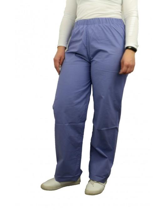 Spodnie lekarskie niebieskie rozmiar M (obszycie beżowe)