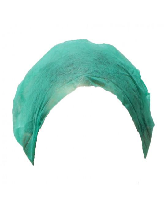Czepek chirurgiczny z gumką w kolorze zielonym (opak. 100 szt.)