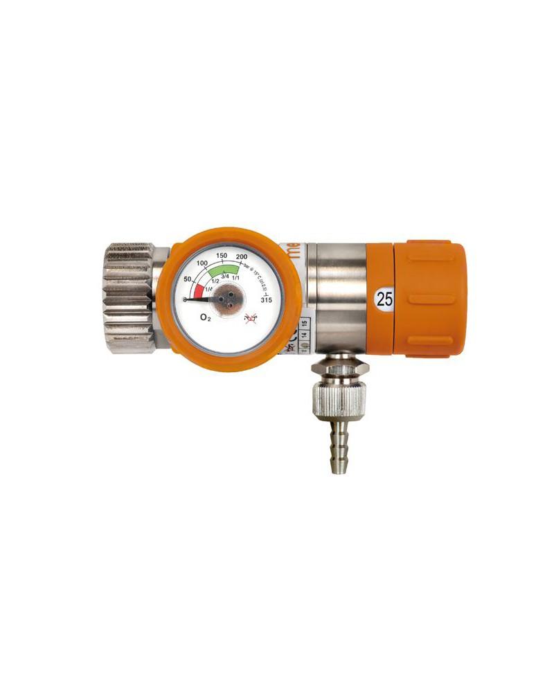 Reduktor ciśnienia tlenu z regulowanym przepływem Rescue 25