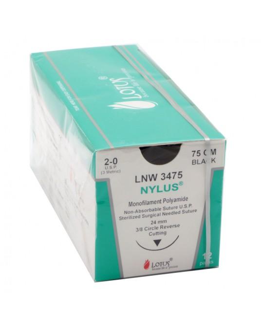 Nici Nylus® niewchłanialne z igła , 12 saszetek