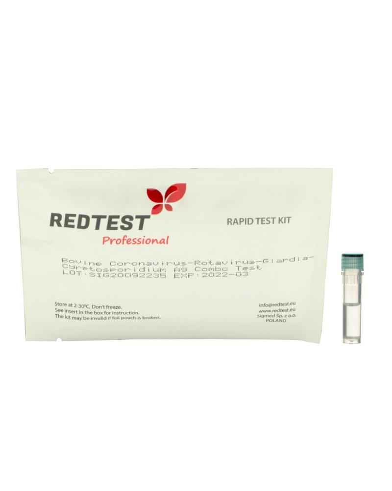 Szybki test do wykrywania antygenu ROTA+BCV+GIA+CRYPTO u cieląt