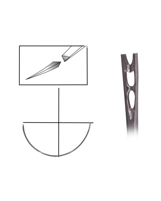 Igła trójkątna 1/2 koła z oczkiem sprężynującym - Sklep medyczny / weterynaryjny - Sigmed